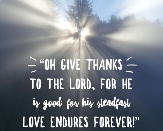 "KASIH SETIA TUHAN ITU KEKAL  (""His steadfast love endures forever"")"
