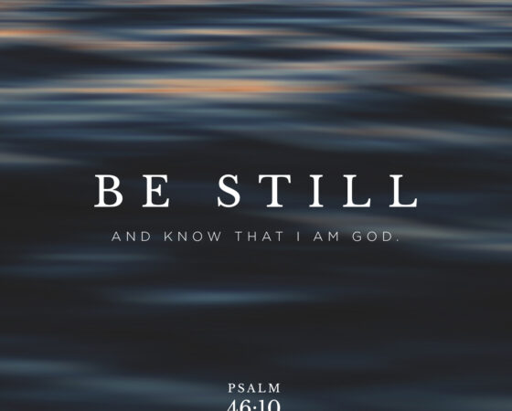 JANGAN ADA PADAMU ALLAH LAIN BE STILL AND KNOW THAT I AM GOD